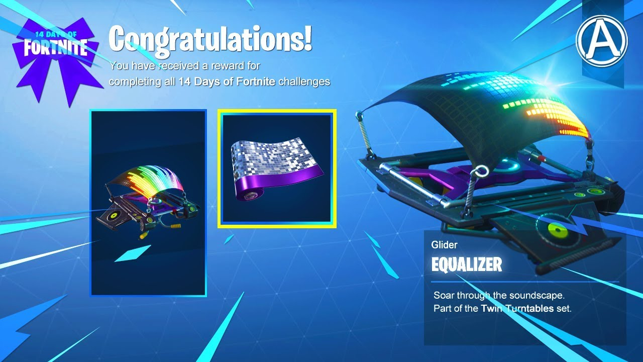 How To Unlock The Free Equalizer Glider Fortnite Battle Royale