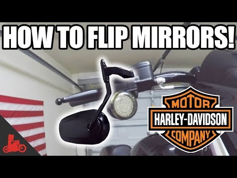 How To Flip Mirrors on Harley Dyna