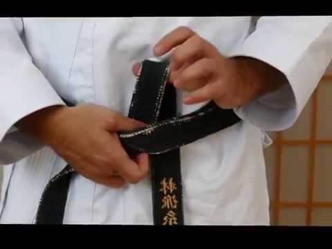 Karate Gürtel binden