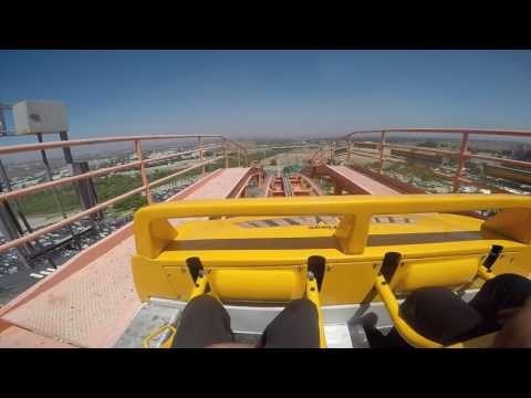 Six Flags Magic Mountain front row Goliath GoPro POV