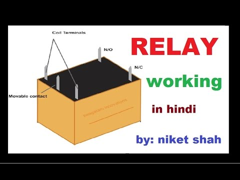 relay working in hindi by niket shah youtube rh youtube com Electrical Relay Diagram Electrical Relay Symbols