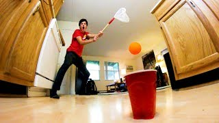 EPIC APARTMENT PING-PONG TRICK SHOTS!