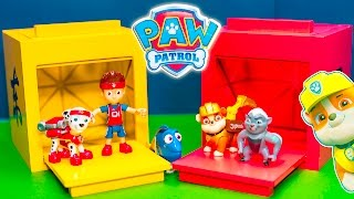 Paw Patrol and The Assistant Play with Magic Surprise Boxes
