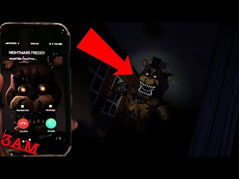 CALLING NIGHTMARE FREDDY FAZBEAR ON FACTIME AT 3AM | NIGHTMARE FREDDY CAME TO MY HOUSE (REAL FNAF4)
