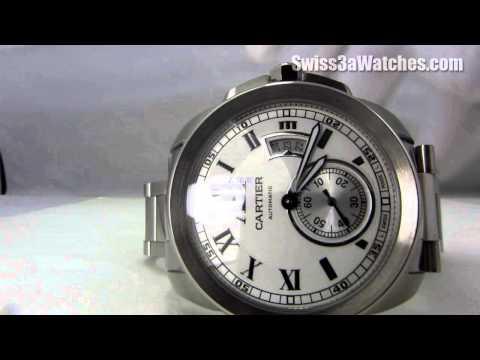 Swiss Calibre de Cartier Automatic Steel Watch W7100015