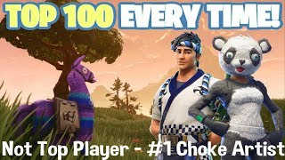 Terrible at Fortnite Thursday - #1 Choke Artist - Not Top Player - Family Friendly (Xbox One)