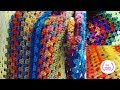 Crochet Granny Square  Blanket: Easy Autuminal ☆Handsthatrockcrochet