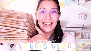 STUDIO VLOG ⭐ / THE CRAZYEST WEEK EVER! / Restocking loads of products, sales and Patreon goodies!!