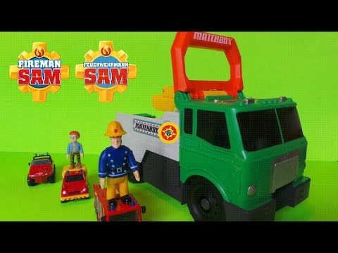 Feuerwehrmann / Fireman Sam And The Matchbox Power Launcher Recycling Truck