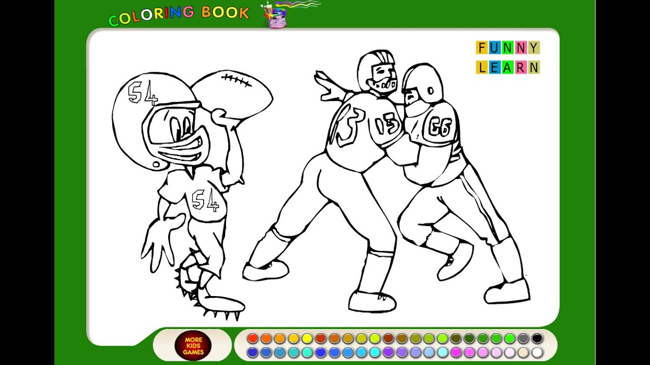 Football Coloring Pages For Kids - Football Coloring Pages - YouTube