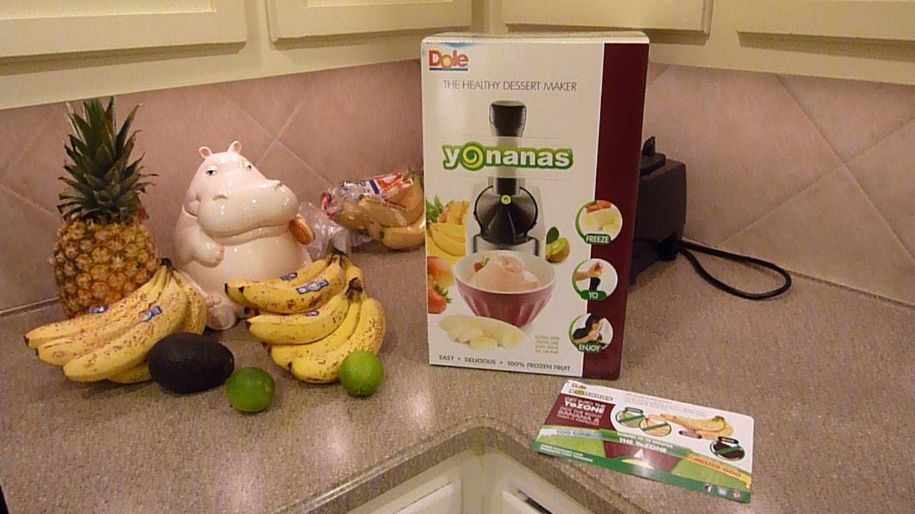 Yonanas Elite Frozen Healthy Dessert Maker 100 Fruit Soft Serve Maker Spatul