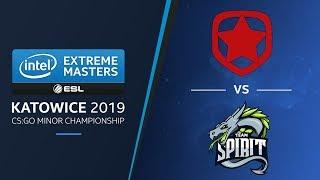 CS:GO - Gambit vs. Team Spirit [Mirage] Map 1 - LB Ro2a - IEM Katowice EU Minor 2019