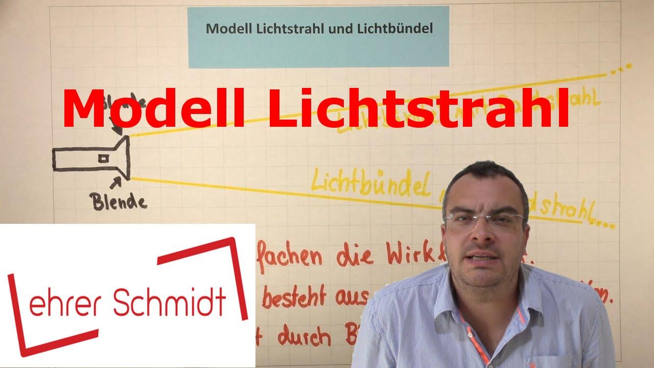 Modell Lichtstrahl und Lichtbündel | Optik - Physik | Lehrerschmidt ...