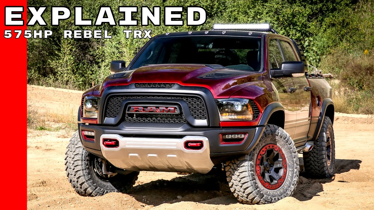 Dodge Ram Trucks >> Dodge Ram Rebel Trx Concept Truck Explained Youtube
