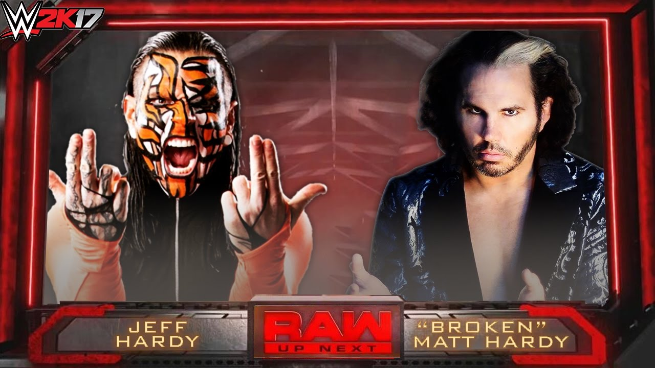 WWE 2K17 - Jeff Hardy vs Broken Matt Hardy - RAW 2017 ...