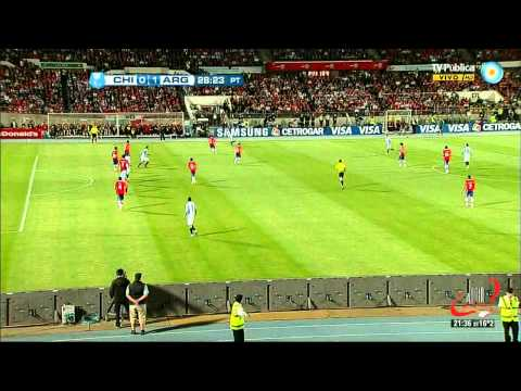 GOLAZO DE MESSI - CHILE 1 ARGENTINA 2 - ELIMINATORIAS FECHA 11 (16 10 2012)