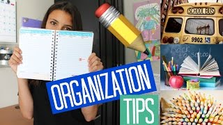 How To Stay Organized for Back To School! Tips and Tricks