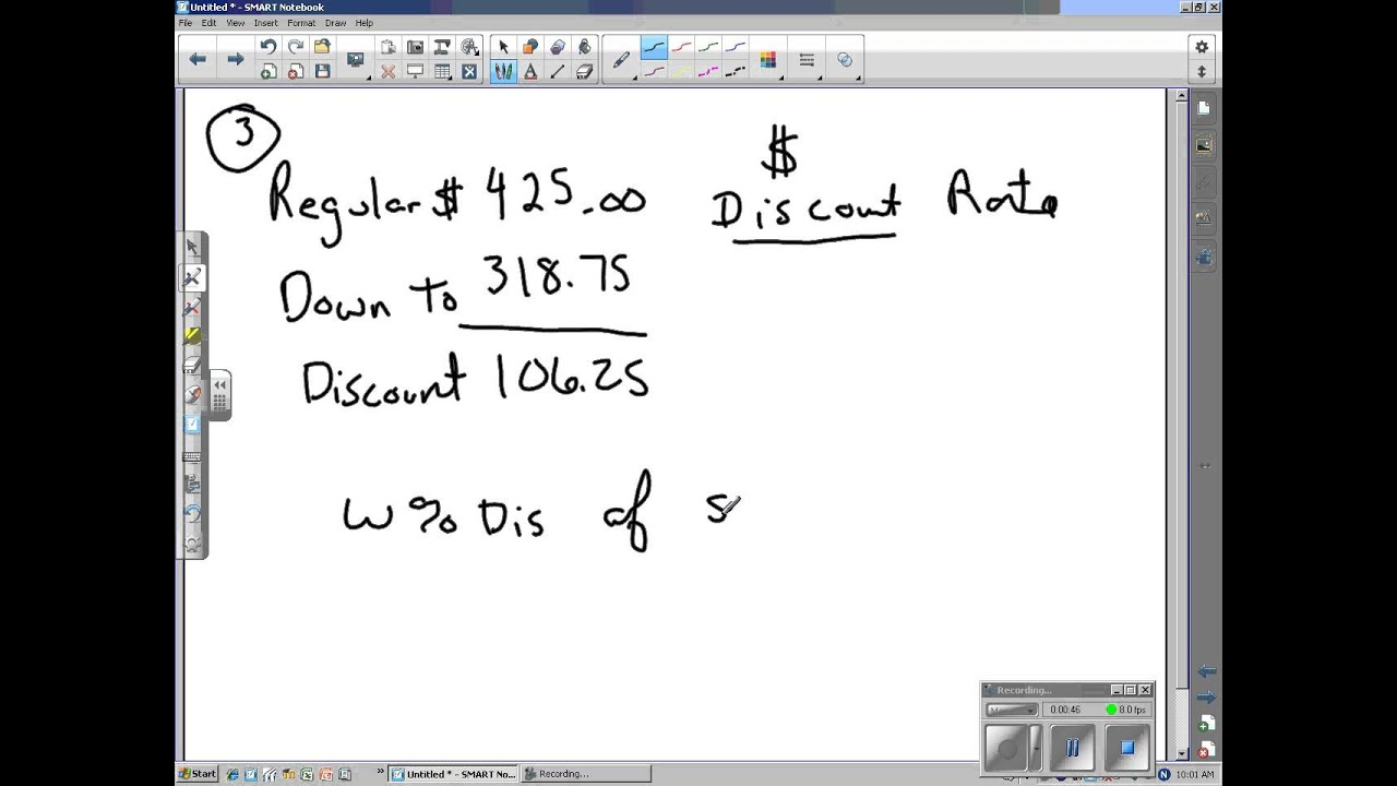Mark Up And Discount Worksheet Problem 3