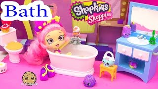 Shopkins Shoppies Doll Bubbleisha Takes Bath - Happy Together Water Play Bathroom Playset