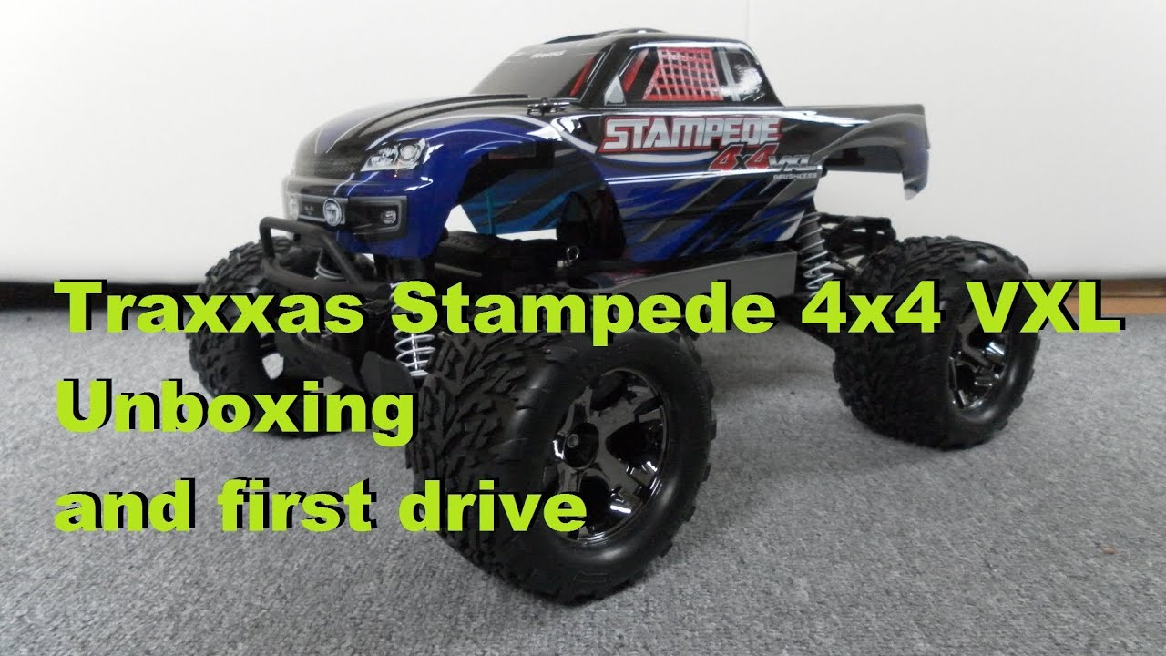 Traxxas Stampede 4x4 VXL Unboxing and first run