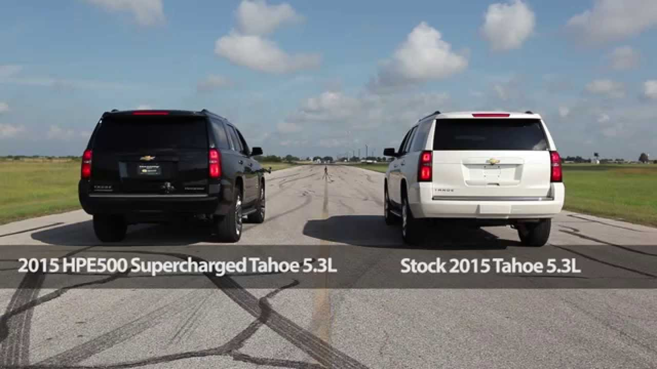 2014 Chevy Tahoe For Sale >> 2015 HPE500 Supercharged Tahoe Drag Race & Dyno Test - YouTube