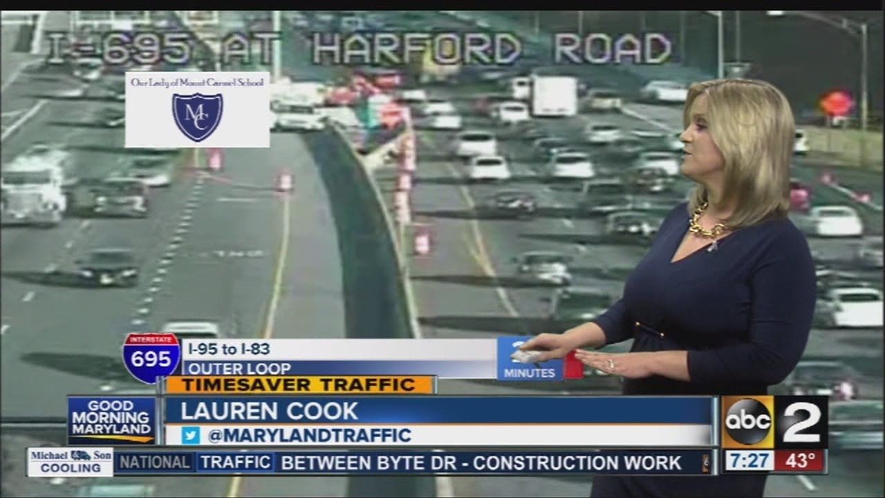 Traffic reporter Lauren Cook takes a look at the Wednesday morning commute