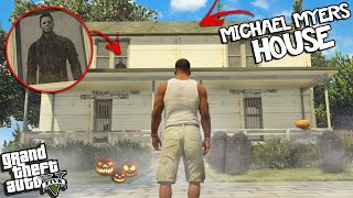 Going to MICHAEL MYERS HOUSE on HALLOWEEN in GTA 5