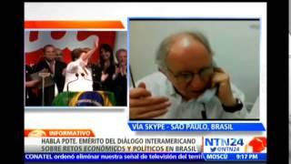 """""""La economía de Brasil no está en muy buena forma"""": pdte. emérito del Diálogo Interamericano"""
