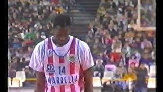 1990/91.- Real Madrid Otaysa Vs. Atlético Madrid Villalba (Liga ACB - Grupo par. Jª21)