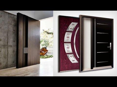 40 Modern Wood And Metal Door Designs Ideas 2019, Wood And Glass Door  Design Collection