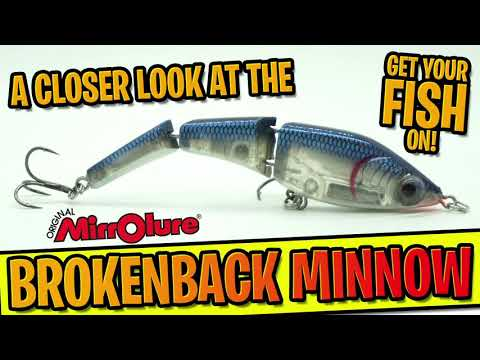 The GREATEST Multi-Jointed Swim Bait EVER? Closer Look MirroLure Brokenback Minnow