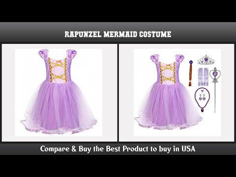 YOCOJA Princess Little Mermaid Dress Costume for Baby Toddler Girl with Accessories