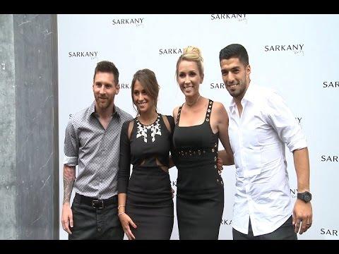 Messi y Luis Suárez apoyan a sus chicas en su proyecto