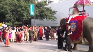 Indian wedding procession in Irving, Texas