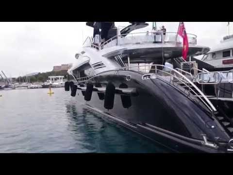 Luxury Yacht ISA 66 meters M/Y OKTO port Vauban Antibes
