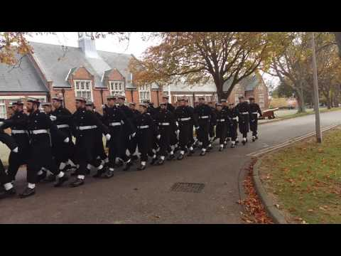 The Royal Navy Remembrance Day Parade in Practice on Whale Island