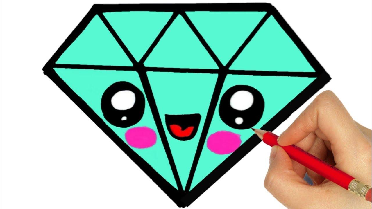HOW TO DRAW A DIAMOND EASY STEP BY STEP #1