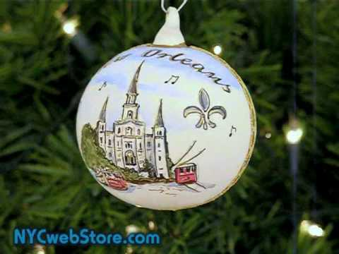 New Orleans Glass Christmas Ornament - YouTube
