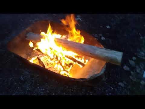 Winter Fire 4/5 .. threw in a big log