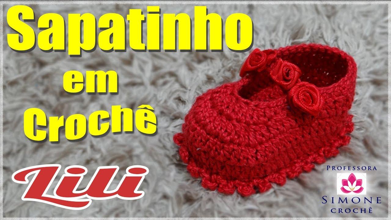 Populares Passo a passo Sapatinho de Crochê Lili - Professora Simone - YouTube TQ71