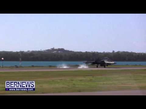 RAF Jets Landing In Bermuda, Jan 20 2014