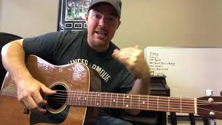 Houston We Got A Problem | Luke Combs | Beginner Guitar Lesson