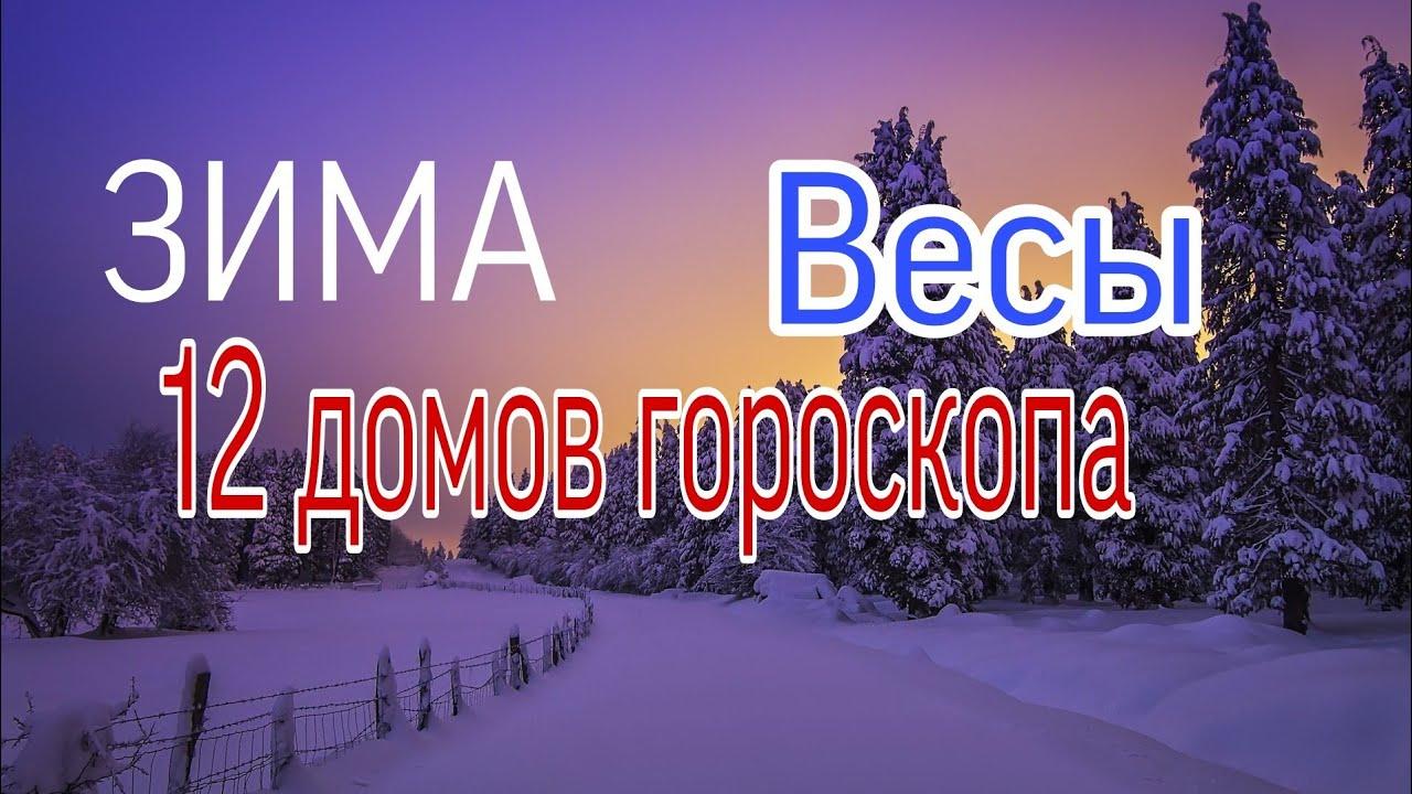 ВЕСЫ ЗИМА (НОЯБРЬ-ЯНВАРЬ) 12 ДОМОВ ГОРОСКОПА