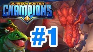 NEW GAMELOFT GAME RELEASED! Huge DRAGON! - Dungeon Hunter Champions Walkthrough #1