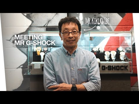 Meeting Mr G Shock, Mr Kikuo Ibe - the history of G-Shock and what makes them so tough?