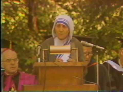 Commencement Address of Teresa of Calcutta' at Thomas Aquina