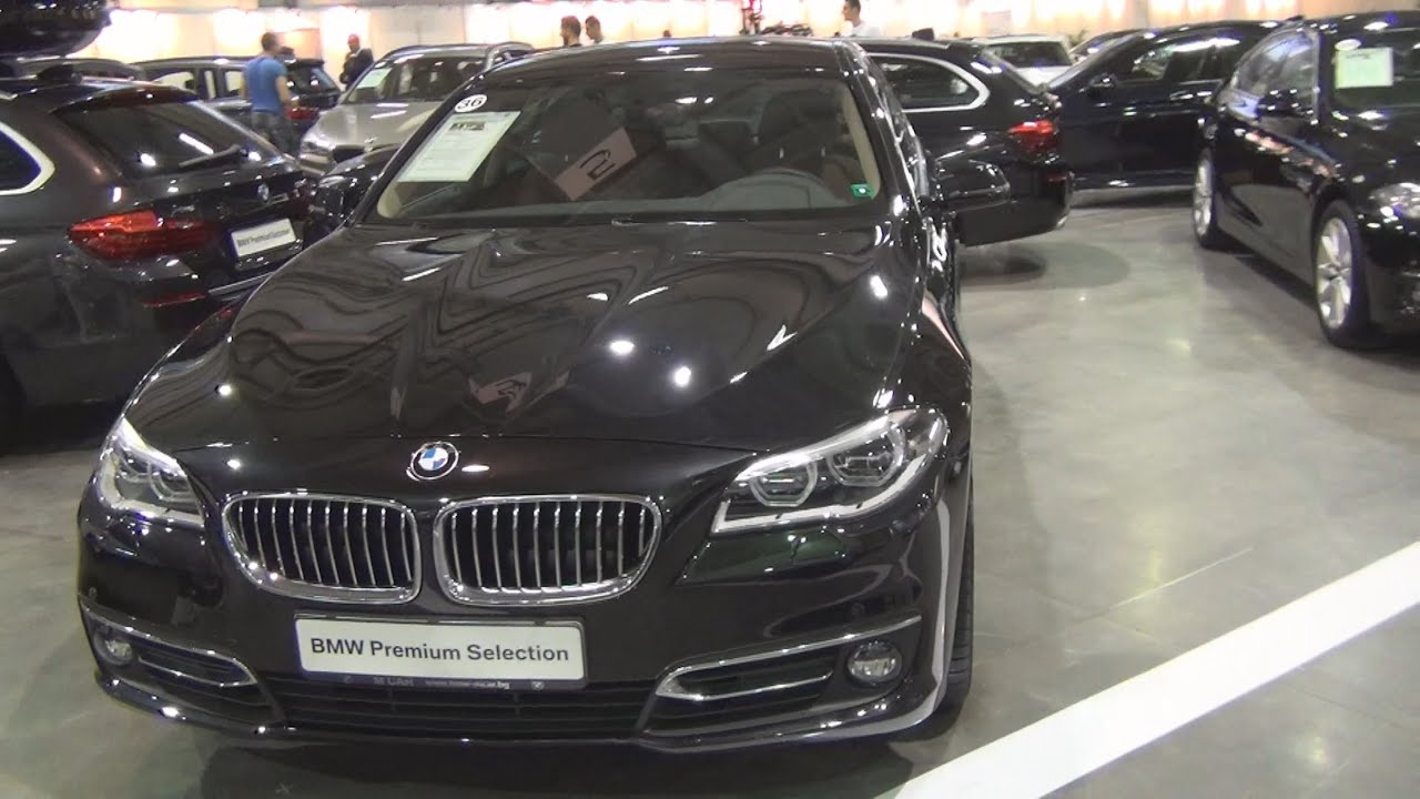 bmw 520d xdrive sedan black sapphire (2015) exterior and interior