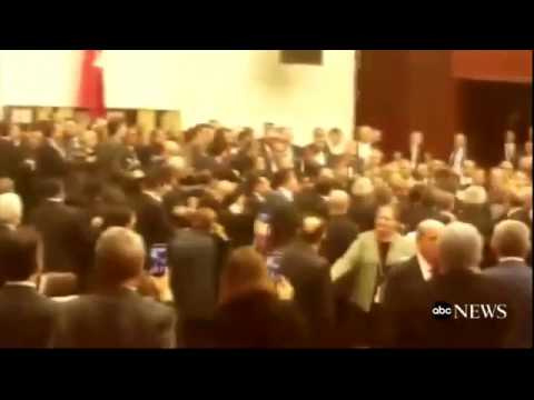 Brawl Erupts in Turkey's Parliament Over Constitutional Reform
