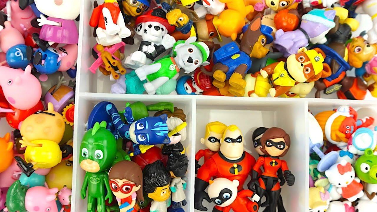 Игрушки из любимых мультиков, убираемся и сортируем фигурки