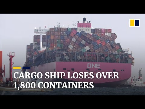 Cargo ship ONE Apus loses more than 1,800 containers in Pacific storm